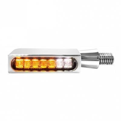 Clignotants LED Heinz Bikes Blokk-Line chromé avec veilleuse intégrée