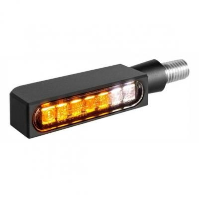 Clignotants LED Heinz Bikes Blokk-Line noirs avec veilleuse intégrée