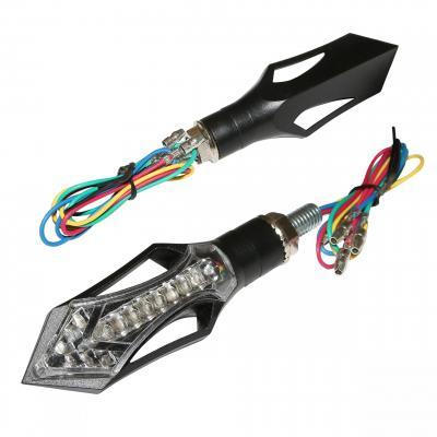 Clignotants LED Replay avec feux stop transparent (paire)