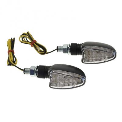 Clignotants LED triangle noir court (paire)