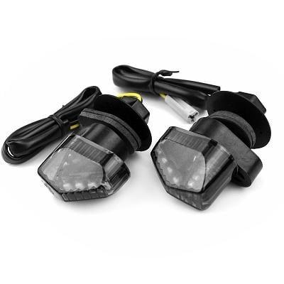 Clignotants noir TNT Crispy à led Piaggio MP3 400/500cc (paire)