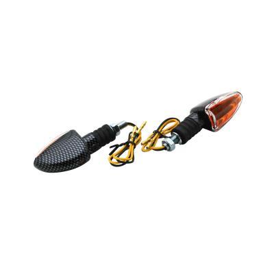 Clignotants Replay Arrow orange/carbone avec témoin (paire)