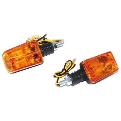 Clignotants Replay rectangle orange/noir base courte (paire)
