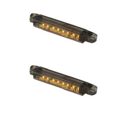 Clignotants Tun'R universels barrettes LEDs transparentes (paire)
