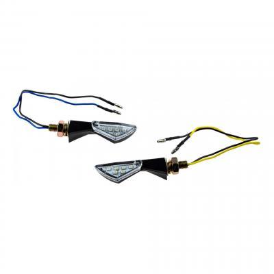 Clignotants TUN'R Vector noir/transparent 6 LEDS (paire)