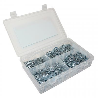 Coffret de 1550 rondelles plates acier de 5 à 10 mm