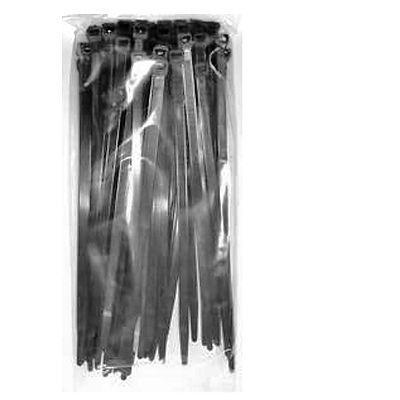 Colliers rislan noir 290mm x 3.5mm (100 pièces)