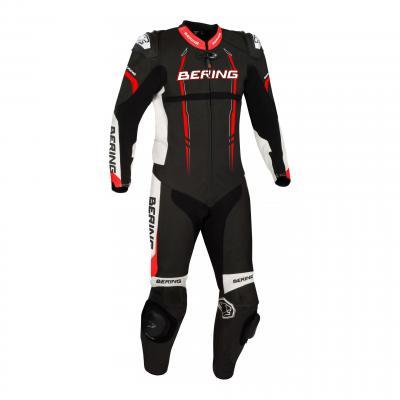 Combinaison cuir Bering Lead-R noir/rouge