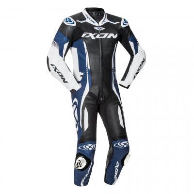 Combinaison cuir Ixon Vortex 2 noir/blanc/bleu