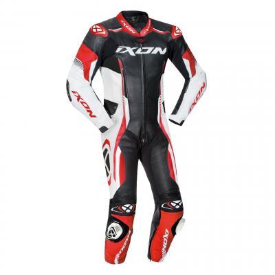 Combinaison cuir Ixon Vortex 2 noir/blanc/rouge