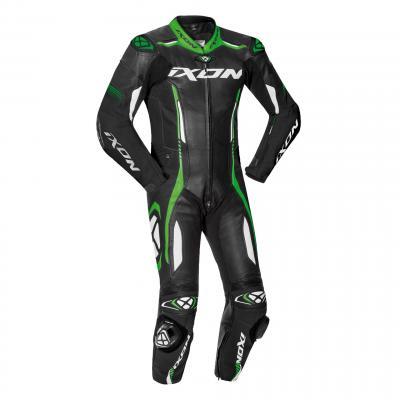 Combinaison cuir Ixon Vortex 2 noir/blanc/vert