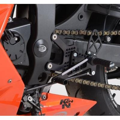 Commandes reculées R&G Racing noir Kawasaki ZX-6R 05-13