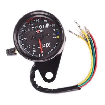 Compteur de vitesse Brazoline Ø 65 mm noir 160 km/h