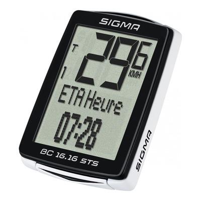 Compteur vélo Sigma BC 16.16 STS CAD altimétre et cadence de pédalage sans fil (15 fonctions)