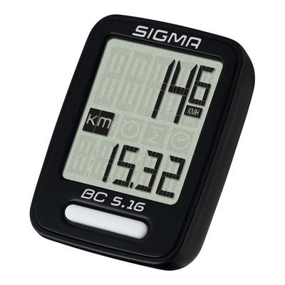 Compteur vélo Sigma BC 5.16 noir (5 fonctions)