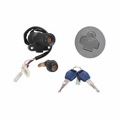 Contacteur à clé avec bouchon et serrure de selle adaptable rieju 50 rs2 matrix/Peugeot xr6