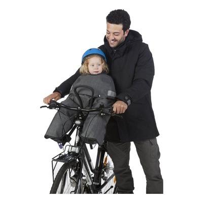 Coque thermique vélo Tucano Urbano Opposum front pour porte bébé gris