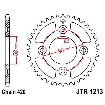 Couronne JT Sprockets Acier pas 420 37 dents - Pour Honda XR 50 00-04