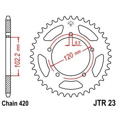 Couronne JT Sprockets Acier pas 420 47 dents - Pour Aprilia RS 50 99-05