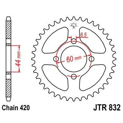 Couronne JT Sprockets Acier pas 420 52 dents - Pour Yamaha DT 50 R 97-98