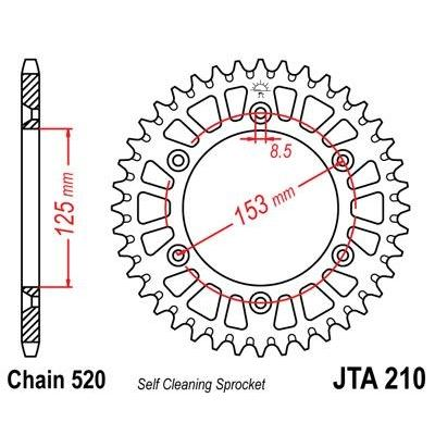Couronne JT Sprockets Aluminium pas 520 49 dents - Pour Honda CR 500 R 92-01