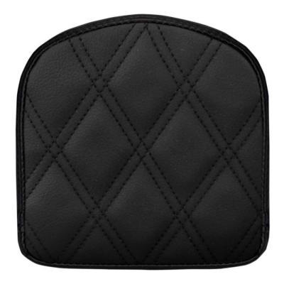 Coussin de sissybar Saddlemen carré noir coutures losange