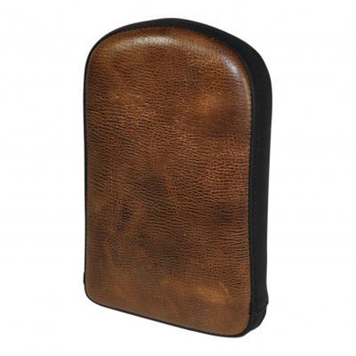 Coussin de sissybar Saddlemen rectangulaire noir/marron