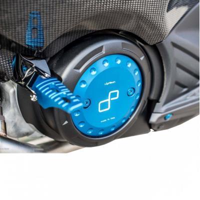 Couvercle de carter droit et gauche Lightech bleus pour Yamaha T-Max 530 12-16
