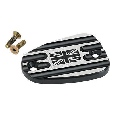 Couvercle de maître cylindre de frein AV Joker Machine Union Jack noir Triumph Thruxton 1200 16-20