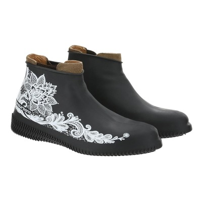 Couvre chaussures Tucano Urbano Footerine flower noir/blanc