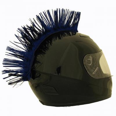 Crête de casque bleue
