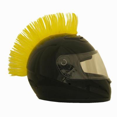 Crête de casque jaune