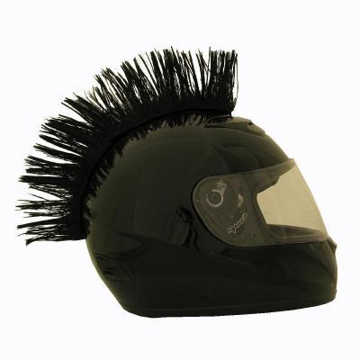 Crête de casque noire