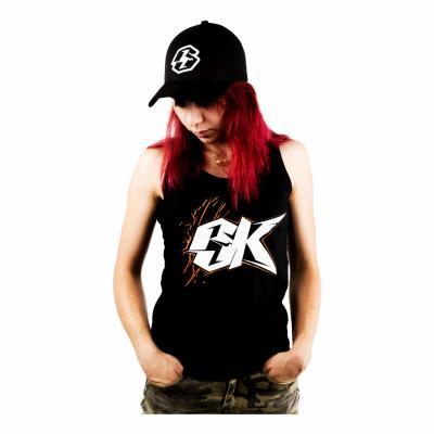 Débardeur femme La Bécanerie logo BK