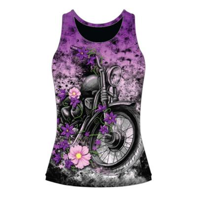Débardeur femme Lethal Treat Flower motorcycle violet/noir