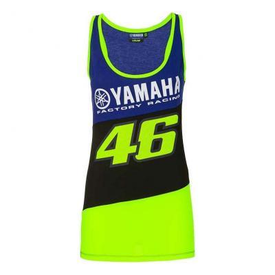 Débardeur Top femme VR46 Racing Yamaha bleu/noir/jaune