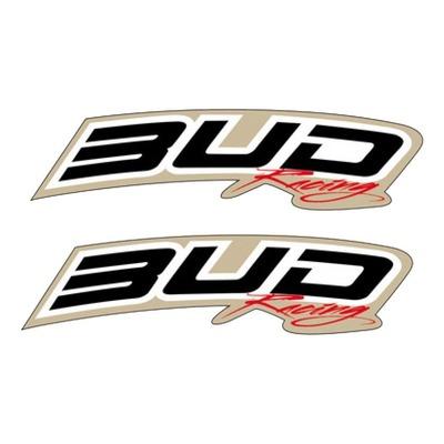 Déco de garde-boue avant Bud Racing blanc/noir