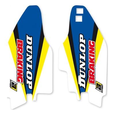 Déco de protections de fourche Blackbird Racing Dream 4 Suzuki 125 RM 96-21 bleu/jaune