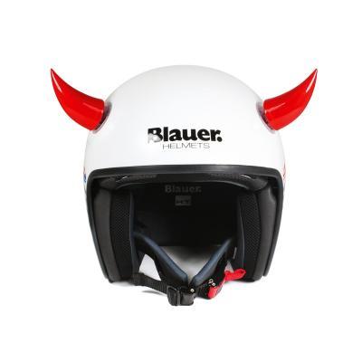 Décoration de casque Chaft cornes rouge