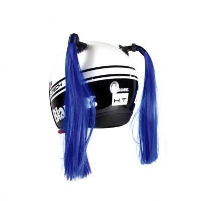 Décoration de casque Chaft couettes bleu