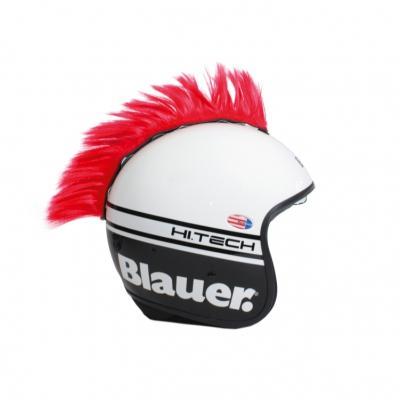 Décoration de casque Chaft crête rouge