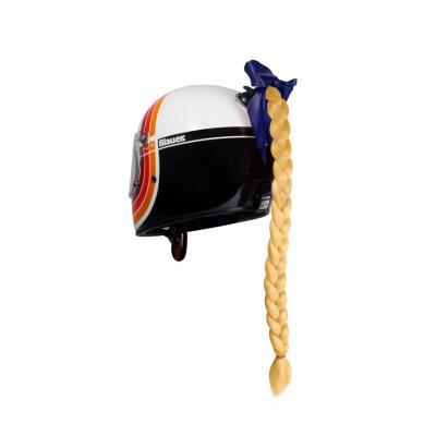 Décoration de casque Chaft tresse blonde