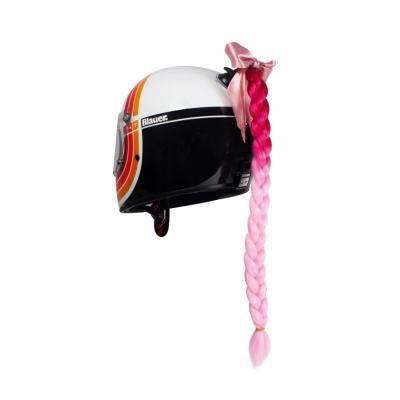 Décoration de casque Chaft tresse rose
