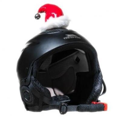 Décoration de casque Père Noël