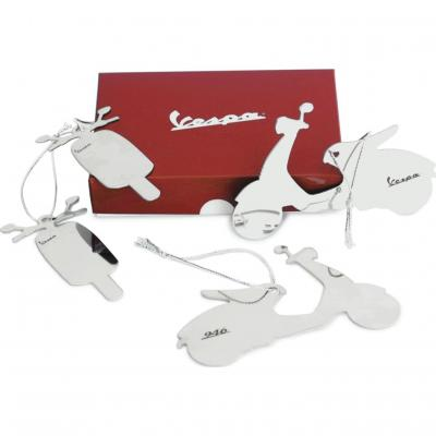 Décorations de sapin de Noël Vespa blanc