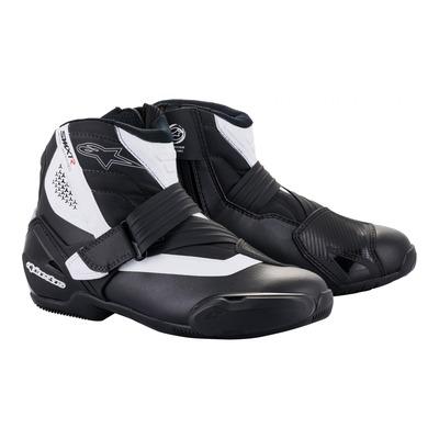 Demi-bottes Alpinestars SMX-1 R v2 noir/blanc