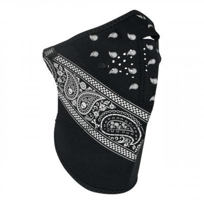 Demi-masque Zan Headgear Neo-X 3 panel bandanna noir/blanc