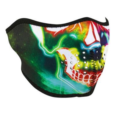 Demi-masque Zan Headgear Neon skull multicolore