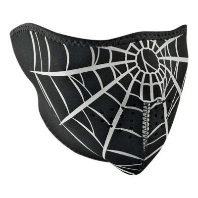 Demi-masque Zan headgear Spider web noir/blanc