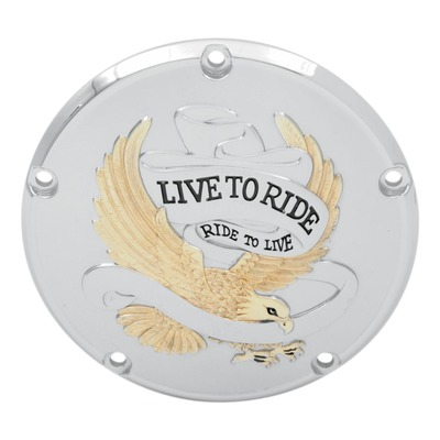 Derby cover Drag Specialties Live to Ride Harley Davidson Big Twin 99-18 or